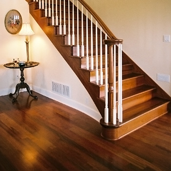 Hardwood Floors And Stairs Foyer